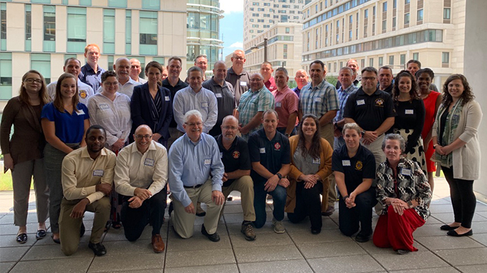 US fire service conference attendees at Drexel University