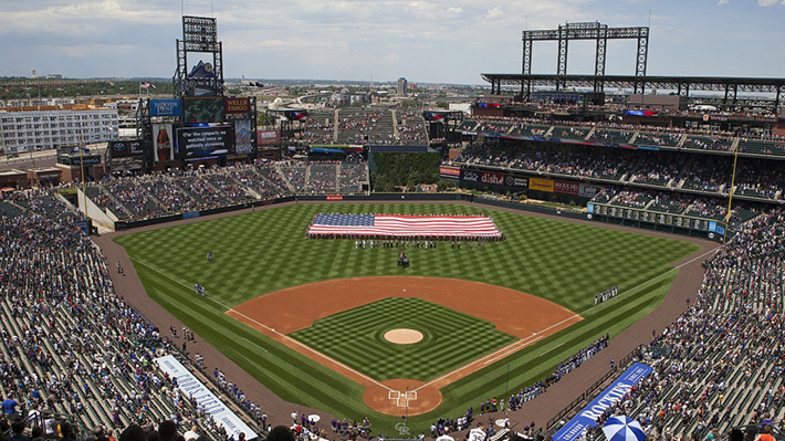 Coors Field in Denver, home field of MLB's Colorado Rockies
