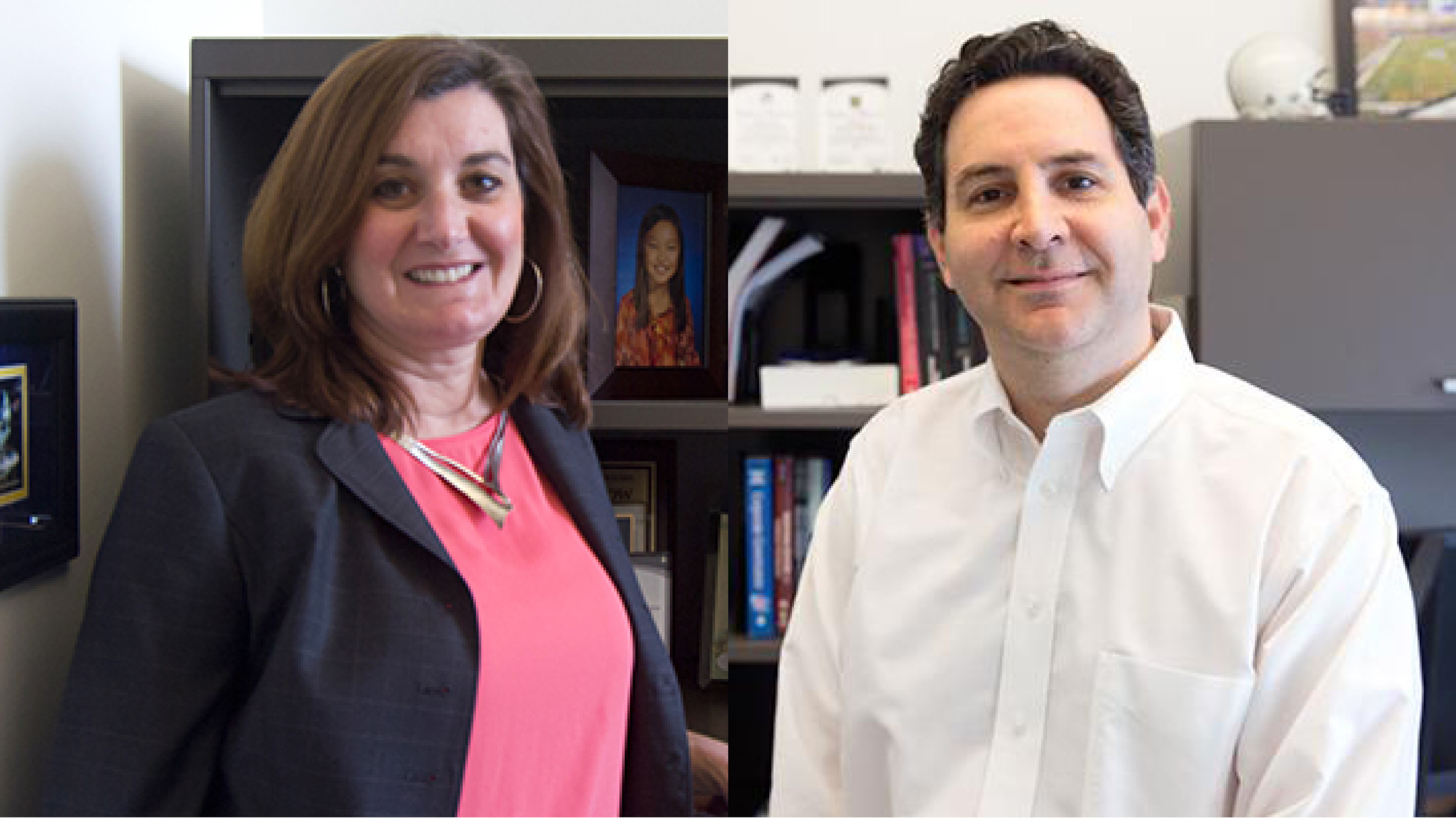 LeBow faculty members Dana D'Angelo and David Becher, PhD