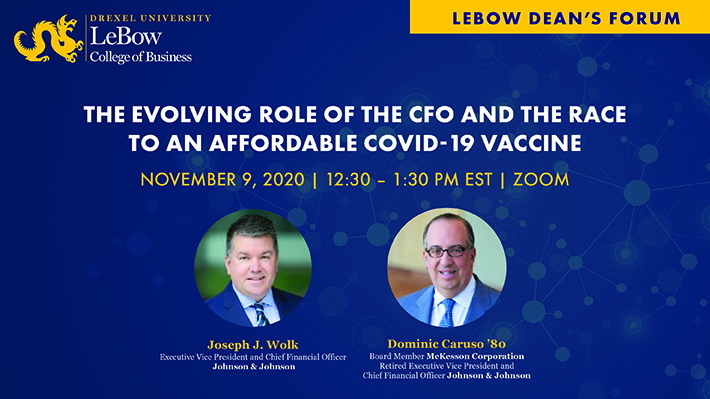 LeBow Dean's Forum Event November 9 at 12:30 p.m.