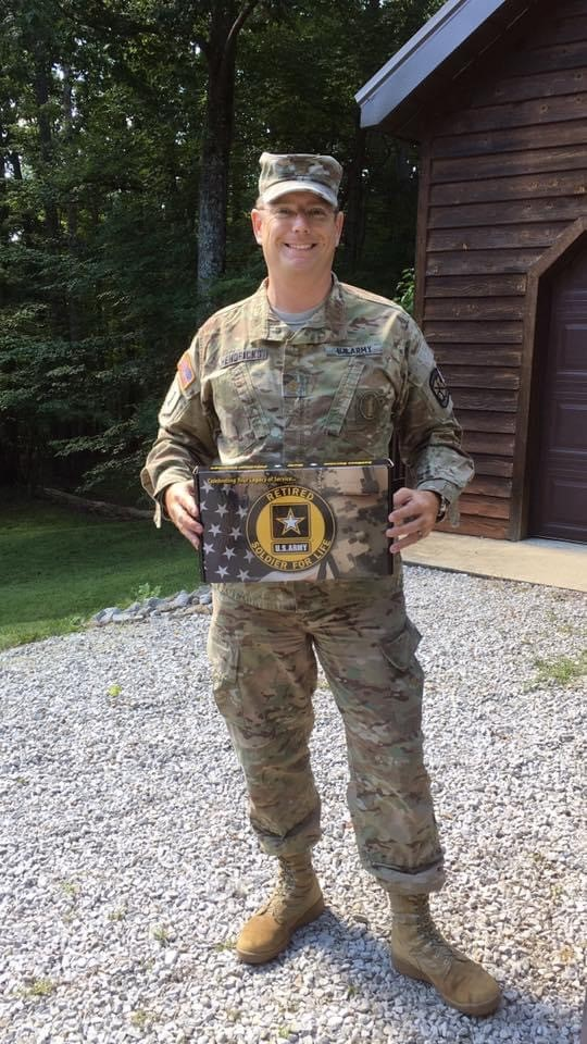 Drexel LeBow DBA student Jeff Hendricks during his US Army service