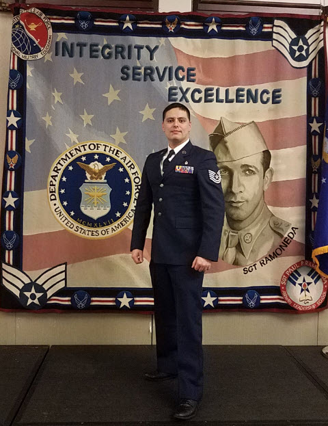 Drexel LeBow DBA student Jaime Nieto Sierra during his US Air Force service