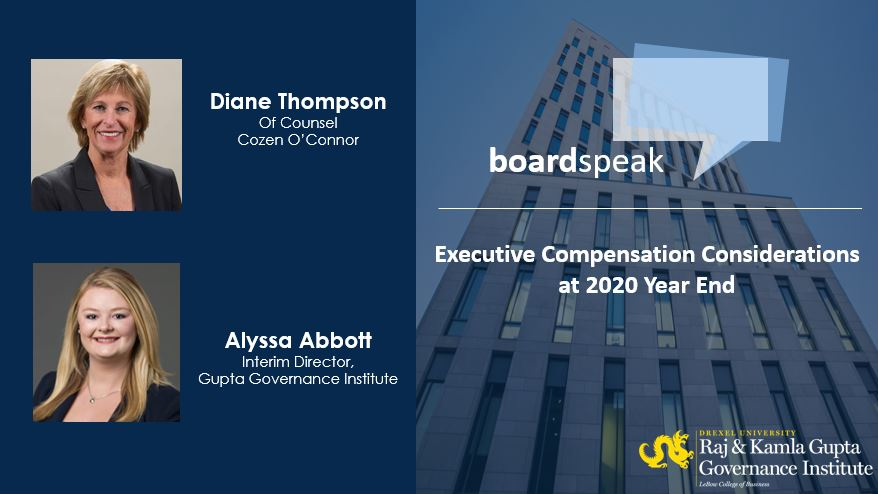 Boardspeak: Executive Compensation Considerations at 2020 Year End