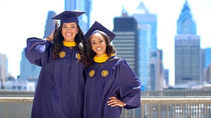 Two young Black Drexel graduates