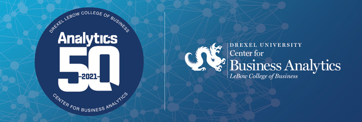 Announcing the 2021 Drexel LeBow Analytics 50 Winners