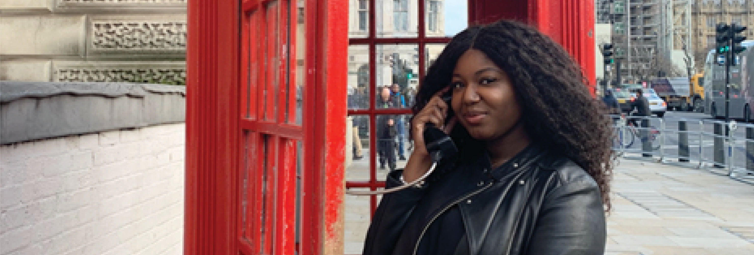 Class of 2021 LeBow alumna Bianca Mitchell on a visit to London