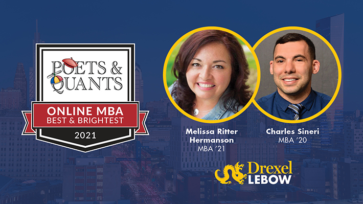 Two LeBow Online MBA graduates recognized by Poets&Quants