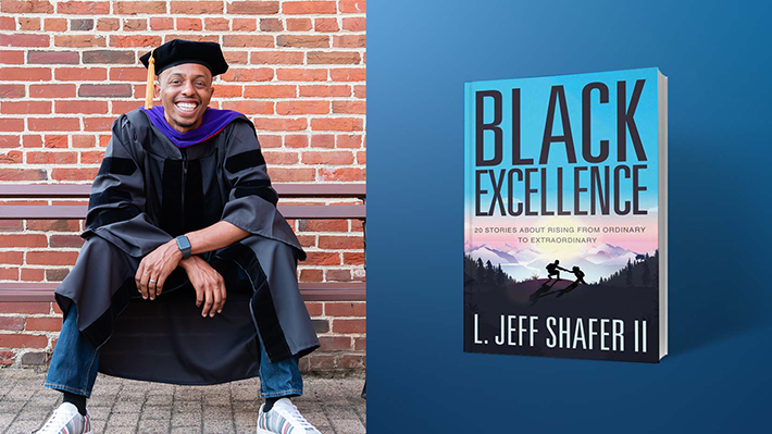 """LeBow alumnus Jeff Shafer '12 and his book """"Black Excellence"""""""